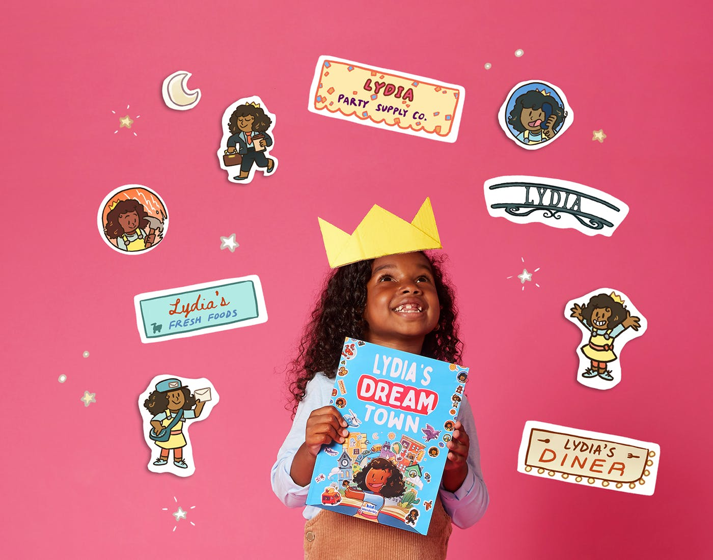 Girl crown and stickers
