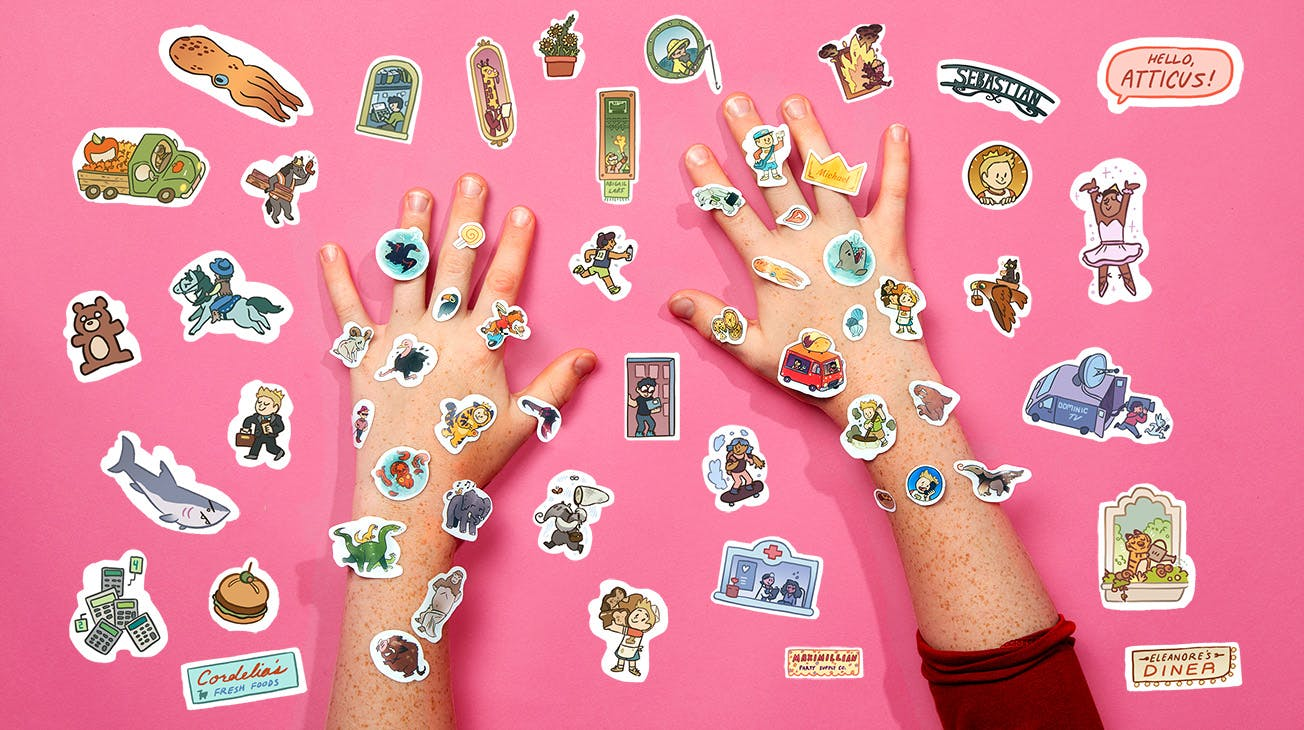 DTS hands and stickers
