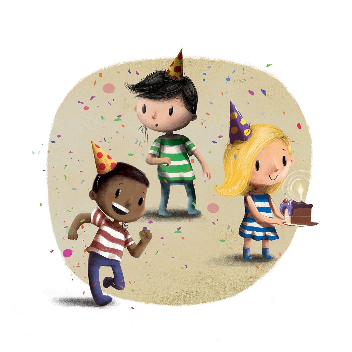 The Birthday Thief Book - Product Description about the range of different diverse character you can select to represent the child you are gifting for