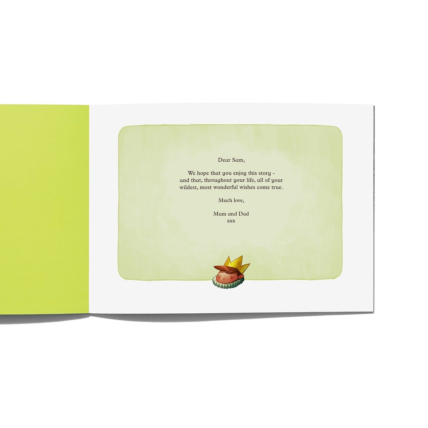Kingdom of You - Product Specification  of the dedication written by you for them