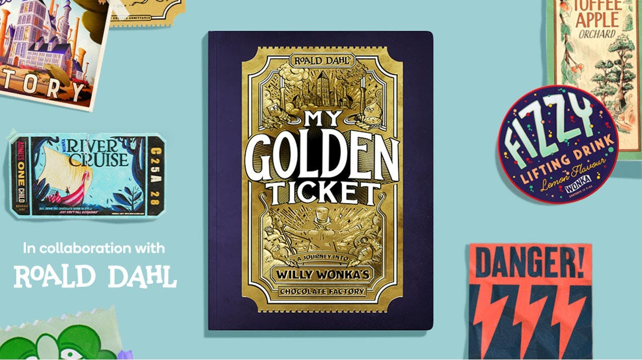 A collaboration with Roald Dahl to create a personalised my golden ticket adventure for the child