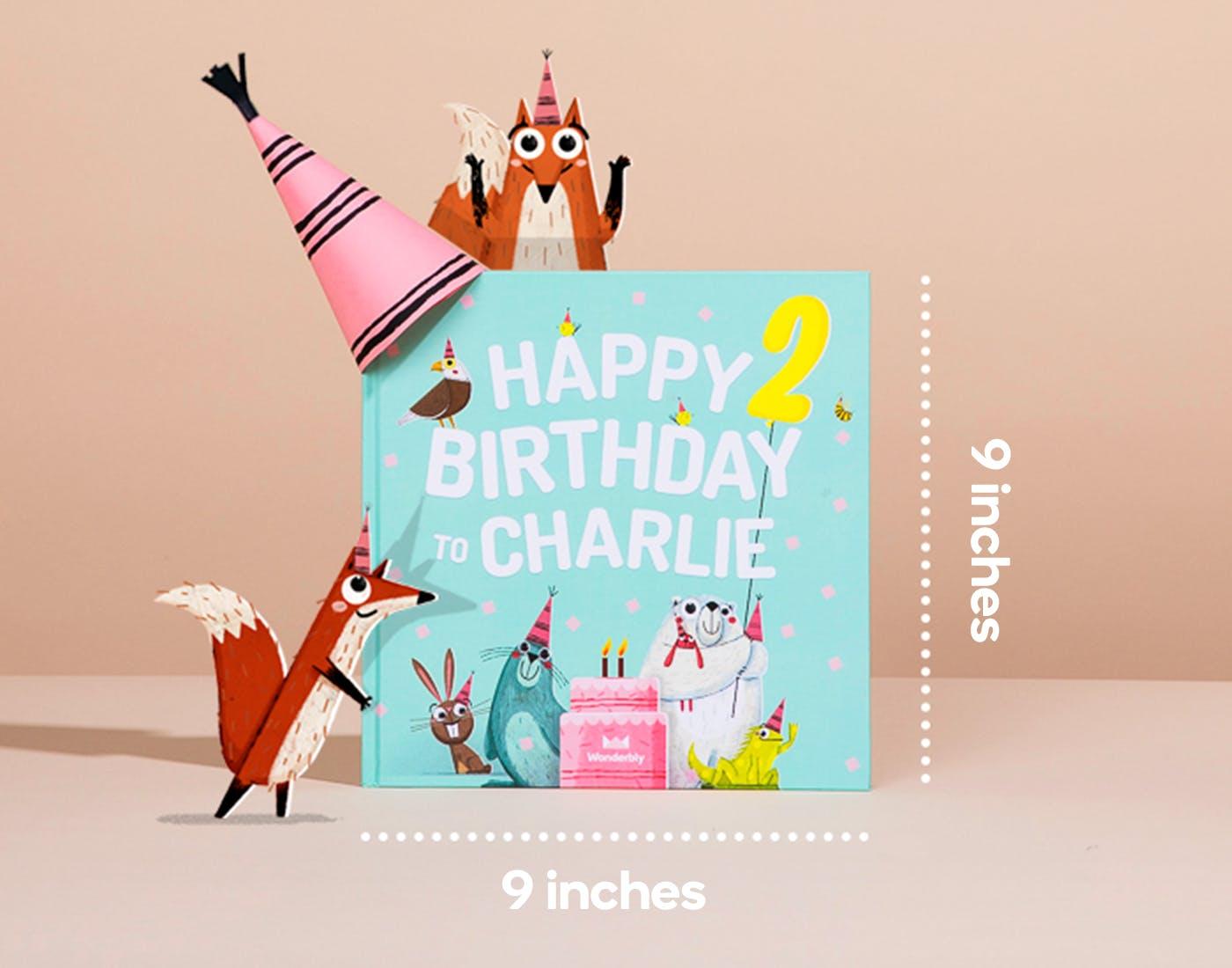 Happy birthday - Mint Green dimensions US